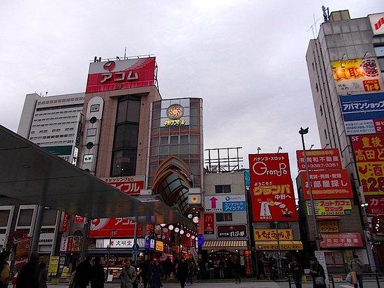 Nakano San Mall Shopping Street: 中野駅北口・中野サンモール商店街の入り口写真