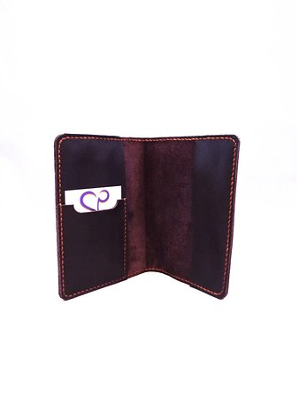 Cuor di Pelle: Passport Holder v3 Hand-cut, handsewn Easy remove, Card / Global entry card pocket Made upon request in our store.