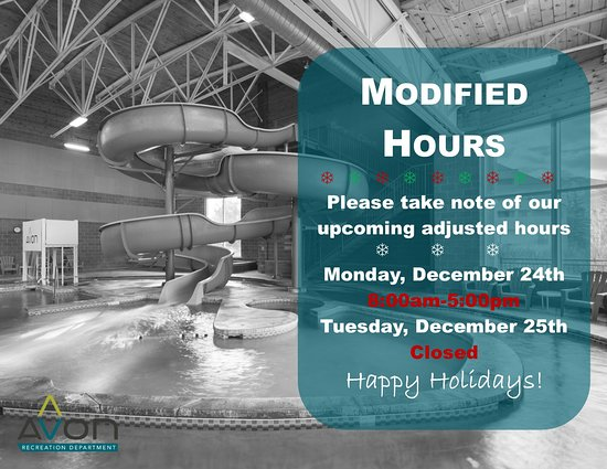 Avon Recreation Center: 2018 Holiday Hours
