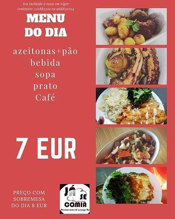 Santa Comba Dao, Portugal: prato do dia