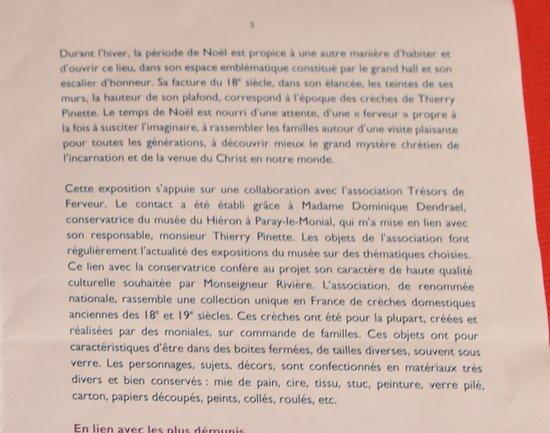 Autun : Visite extérieure de l'Évêché d' AUTUN  « Entre le bœuf et l'âne gris », exposition de créches datant des 18 et 19é Siécle. Très joli à voir Collection unique en France et l'entrée est gratuite