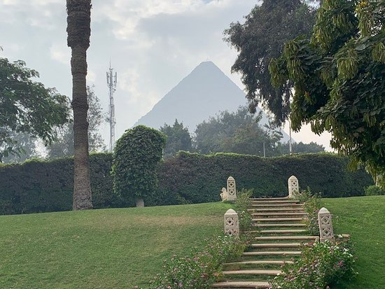Hotel grounds - view of pyramid