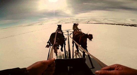 Horse Riding on snow, Kars Turkey