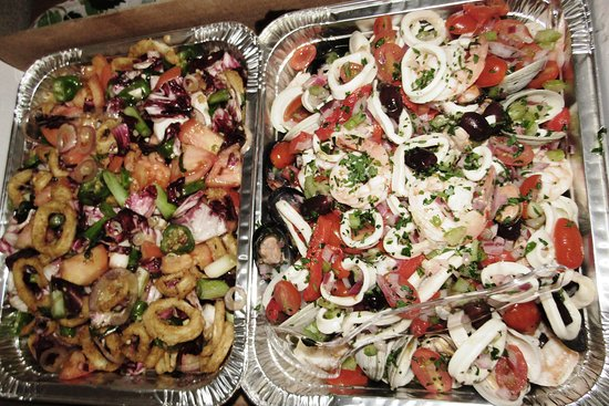 Hasbrouck Heights Pizza: Salads, catered by Hasbrouck Heights Pizzeria.