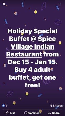 Rowlett, TX: Holiday Offer@Spice Village