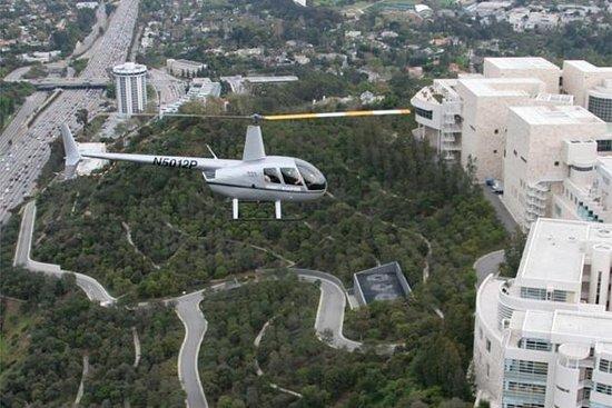 Voo de helicóptero em Los Angeles...