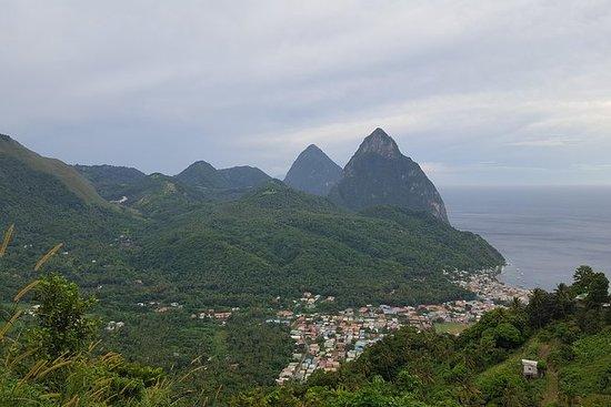 St Lucia Castries til Pitons Tour