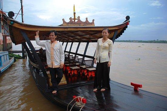 胡志明市的Cai Be Floating Market,Sa Dec...