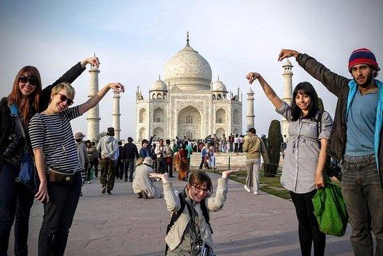 12-timers privat Taj Mahal & Agra tur...