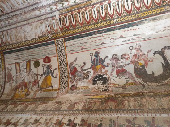 Dashavatar depicted on the wall of Raja Mahal