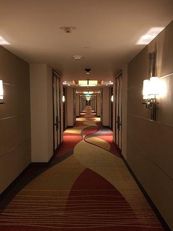 Holiday Inn Macao Cotai Central: エレベーターからの廊下 突き当たり付近が私の部屋