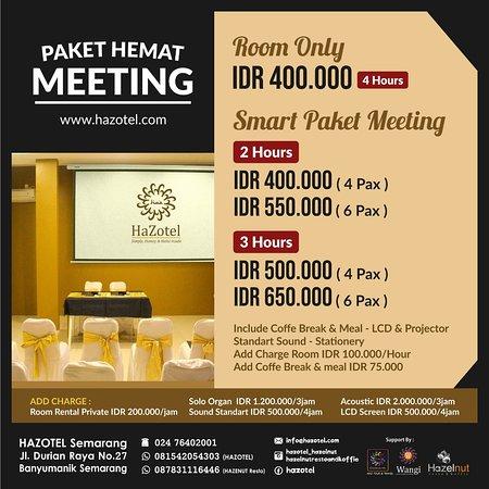 Hazelnut Resto & Koffie - Promo Paket Meeting - Picture of ...