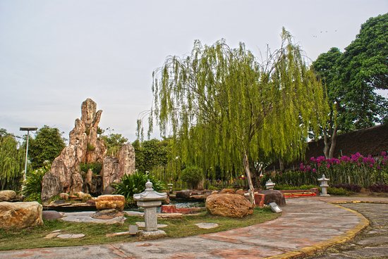 "Jenjarom, Malaysia: Lumbini Garden  The Lumbini Garden is a commemoration of the birthplace of the Sakyamuni Buddha. ""Lumbini"" in Sanskrit/Pali Language means abundance of fruits and flowers. There are flowerbeds, walking path, bushes of flowers, couple with a small bridge and a pond."