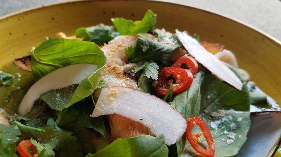Detalle del curry verde de mar