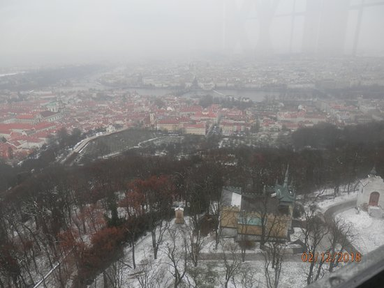 Petřín: View from the observation tower