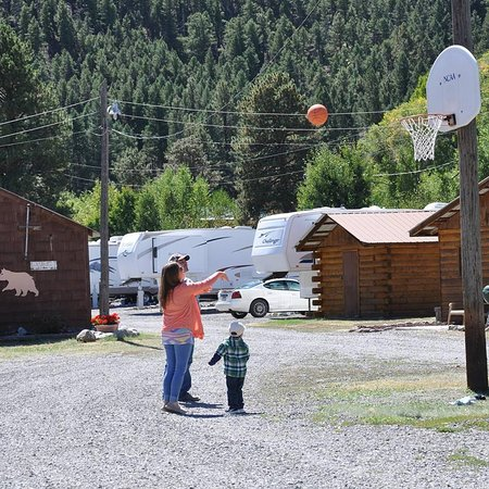 South Fork, CO : Come play basketball or tether ball with your friends and family. We have basketballs to loan out.