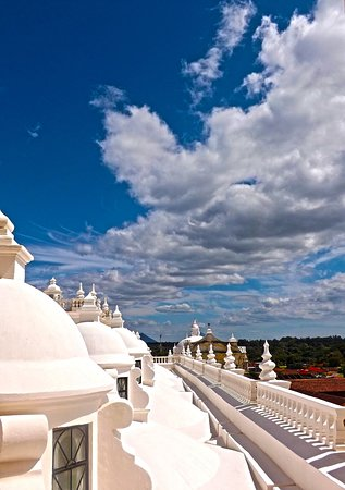 Leon Department, Nikaragua: Roof top cathedral of Leon, Nicaragua
