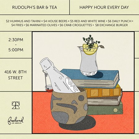 Happy Hour @ Rudolph's Bar & Tea
