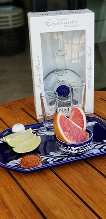 Hilton Los Cabos Beach & Golf Resort: Our welcome tequila bottle.