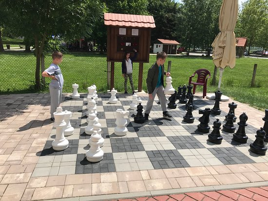 Kumrovec, Croatia: During the warm season guests can play outdoor chess. Relaxing or in competitive way with a unique outdoor chess clock for more fun and excitement.