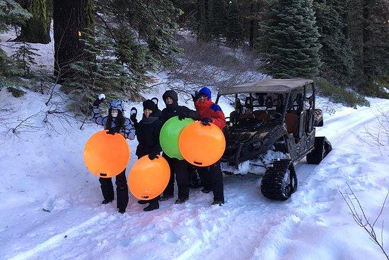 Pista de neve e passeio de trenó