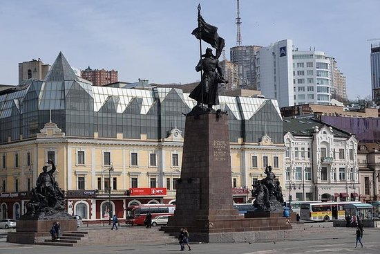 Walking tour downtown of Vladivostok