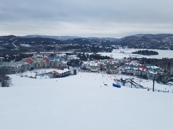Tremblant: Looking down the mountain at the village