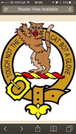 Bankfoot, UK: McIntosh Clan crest. The McIntosh Tours logo isbased on this