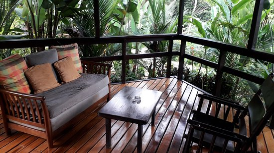 Chachagua, Costa Rica: Verandha from our bungalow.