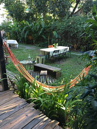 Awesome hostel with a beautiful yard !