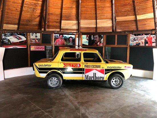 El carro en que Pablo Escobar corria.
