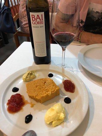 De Cuchara La Cocina de Carmen: Pastel de cabracho y vino Baigorri