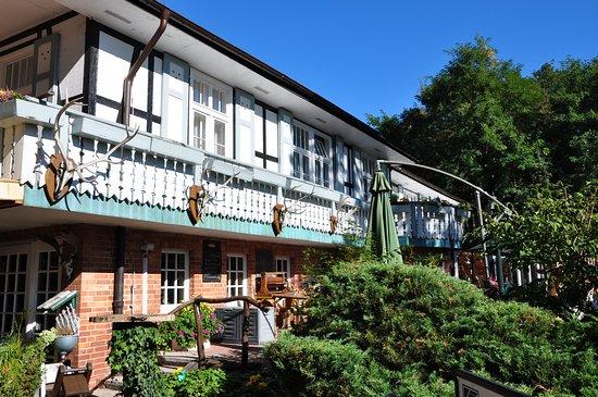 Nauen, Tyskland: Hotel & Restaurant, Terasse