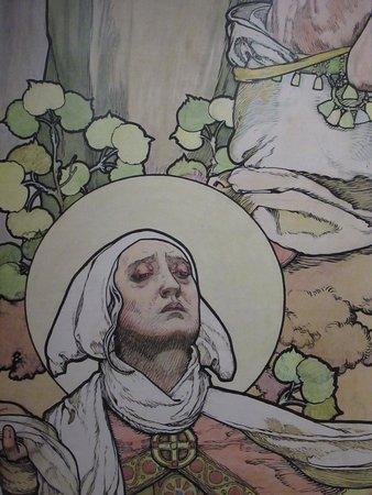 Grand-mère de Vencelas (dessin pour les vitraux de la cathédrale St-Guy de Prague)