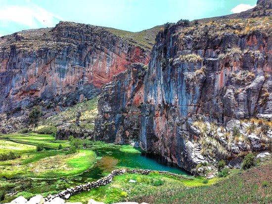 Ayacucho, Peru: Hermoso paraje del brote y la ciénaga de Millpu.