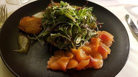 Saig, Germany: Gebeizter Lachs mit Salat