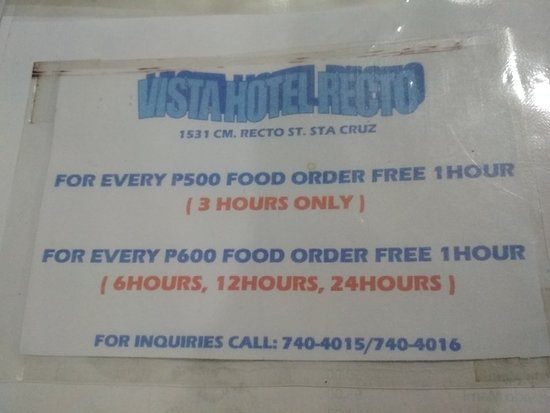 VISTA HOTEL RECTO $21 ($̶3̶1̶) - Prices & Lodge Reviews