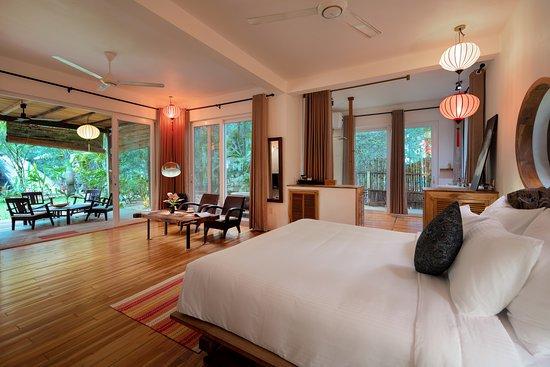 Ensuite master bedroom of the villa