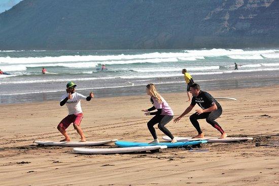 Sessão de Surf em Lanzarote
