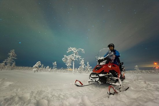 Northern Lights Snowmobile Safari...