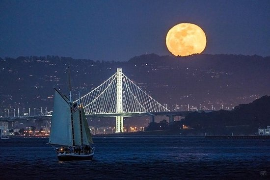 Full Moon Sail on the San Francisco...