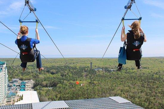 HighFlyer Zipline på Foxwoods