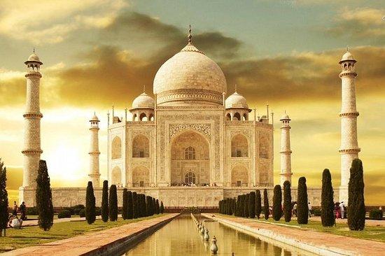 Privat soloppgangstur på Taj Mahal og...