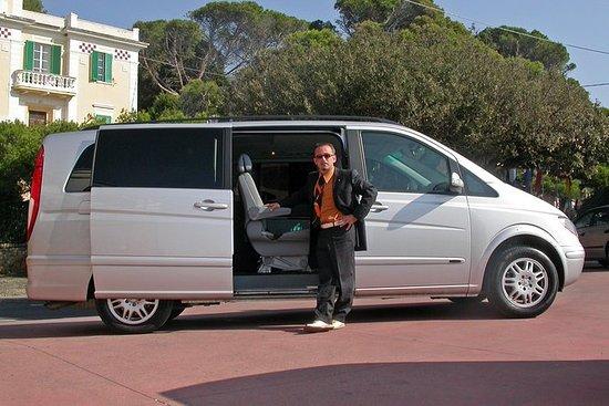 Cefalùからタオルミーナへの8人乗りのプライベートトランスファー