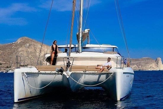 Santorini privado crucero al...