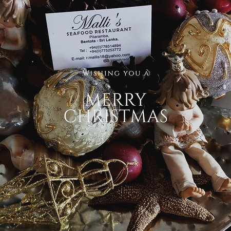 We wish you a peaceful MERRY Christmas  Malli's Team