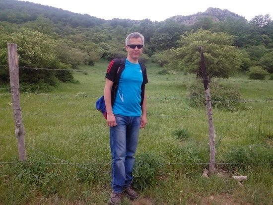 The lush green mountains of Bojnurd