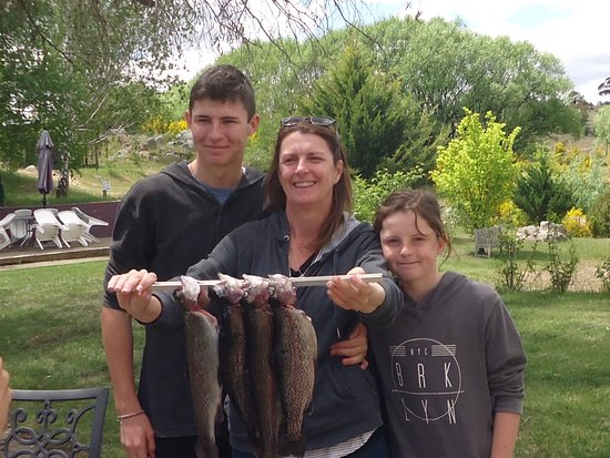 Eucumbene Trout Farm: Family catch this holiday....