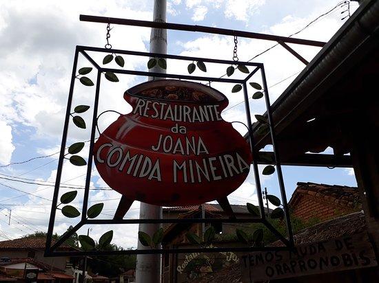 Restaurante da Joana: Uma das placas do restaurante