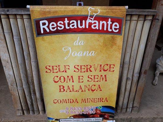 Restaurante da Joana: Banner na entrada do restaurante